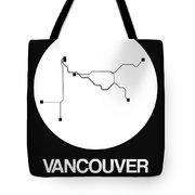 Vancouver White Subway Map Tote Bag
