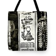 Vapo-cresolene Vaporizer Liquid Poison Original Packaging Black And White Tote Bag