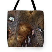 Vaults Of Notre Dame De Paris Before The Fire Of 2019 Tote Bag
