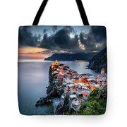 Vernazza Cityscape Tote Bag