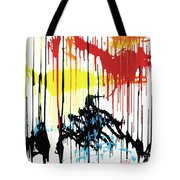 Vertical Sunset Tote Bag