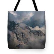 Very Cloudy Morning In Dolomites Tote Bag by Jaroslaw Blaminsky