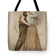 Victor Emile Prouve  French  1858   1943 The Kiss  Le Baiser  1898  Collotype On Wove Paper Tote Bag