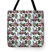 Victorian Girl Blue Tote Bag
