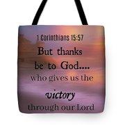 Victorious Verses 1 15 57 Tote Bag
