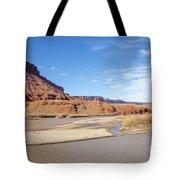 View At Sorrel River Ranch On The Colorado River Near Moab, Utah Tote Bag