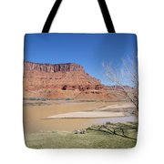 View From A Cabin At Sorrel River Ranch On The Colorado River Ne Tote Bag
