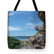 View From Pennard Castle Portrait Tote Bag