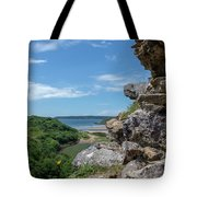View From Pennard Castle Square Tote Bag