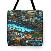 View Of Molteno Reservoir - Cape Town Tote Bag