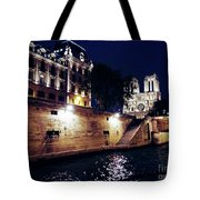 View Of Notre Dame From The Sienne River In Paris, France Tote Bag