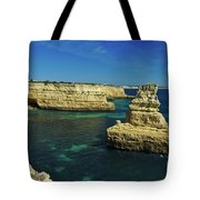 View Of Praia Deserta In Algarve Tote Bag