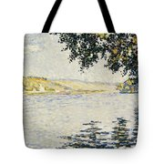 View Of The Seine At Herblay     Tote Bag