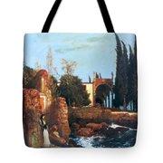 Villa By The Sea 1878 Tote Bag