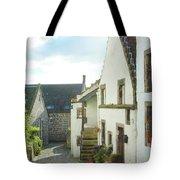 village cobbled lane in Culross Tote Bag
