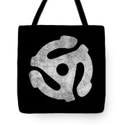 Vintage 45 Rpm Record Adapter Tote Bag