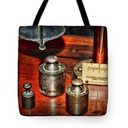 Vintage Apothecary Pharmacist Weights And Scale Tote Bag