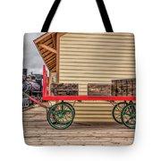 Vintage Baggage Cart Tote Bag
