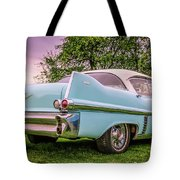 Vintage Blue Caddy American Vintage Car Tote Bag