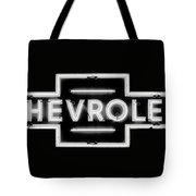 Vintage Chevrolet Neon Sign Tote Bag