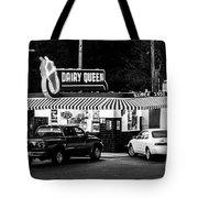 Vintage Dairy Queen At Night Tote Bag