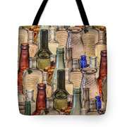 Vintage Glass Bottles Collage Tote Bag