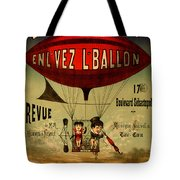 Vintage Hot Air Balloon Tote Bag