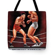 Vintage Italian Boxing Poster Tote Bag
