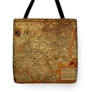 Vintage Map Of Belgium And Flanders Tote Bag