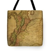 Vintage Map Of Columbia 1818 Tote Bag