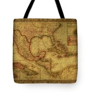 Vintage Map Of Mexico Tote Bag