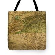 Vintage Map Of North Africa Including Morocco Algeria And Tunisia 1901 Tote Bag