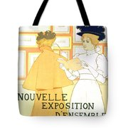 Vintage Poster Advertising A Exhibition At The Salon Des Cent, 1896  Tote Bag