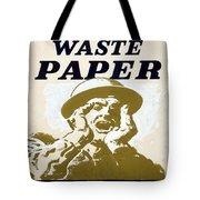 Vintage Poster - I Need Your Waste Paper Tote Bag