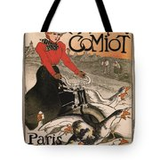 Vintage Poster - Motocycles Comiot Tote Bag