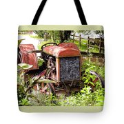 Vintage Rusted Tractor Tote Bag