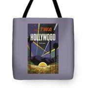 Vintage Travel Poster - Hollywood Tote Bag