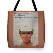 Vintage United Airlines Ad Tote Bag