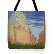 Vintage Zion Travel Poster Tote Bag