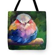 Violet Breasted Roller Bird Tote Bag