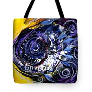 Violet Tri Fish Tote Bag