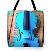 Violin Blues Tote Bag