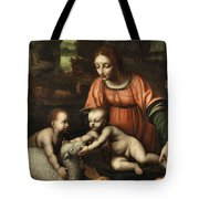 Virgin And Child Tote Bag