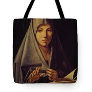 Virgin Annunciate By Messina Tote Bag