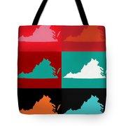 Virginia Pop Art Map Tote Bag