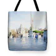 Vittorio Emanuele In Rain Tote Bag