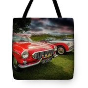 Volvo P1800 Classic Car Tote Bag