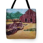 Wagons And Barns Tote Bag