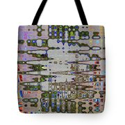 Waiting For The Barge At Aberdeen Abstract Tote Bag