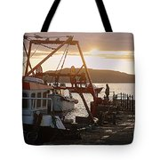 Waiting For The Boat Tote Bag